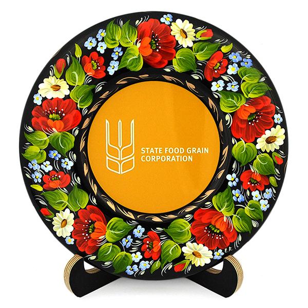 Сувенирная тарелка с логотипом