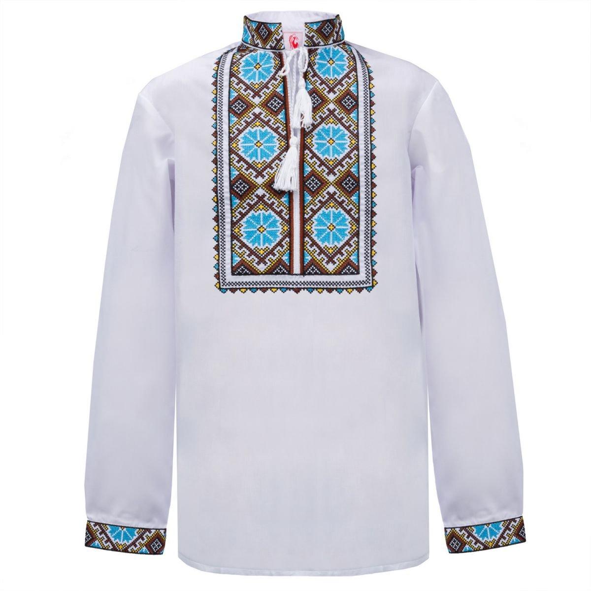 Сорочка вишиванка для хлопчика Слобожанка - Волошки 128см cc77d569dffe5