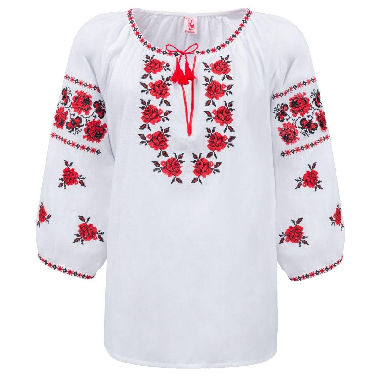 Женская блуза вышиванка Слобожанка - Ружа 44 20b95f8b5e9ce