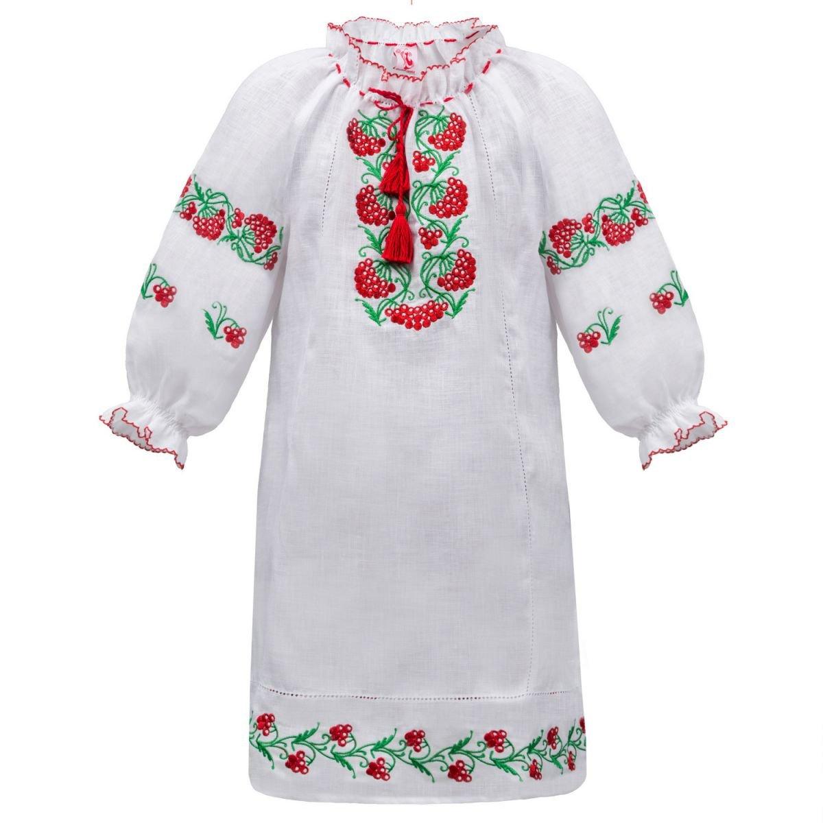 Платье вышиванка для девочки Слобожанка - Калинове ожерелье 110см 7263-12195 051369158c086